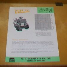 DORMAN INDUSTRIAL OIL ENGINE TYPE 4DS 3053cc SPECIFICATION  LEAFLET