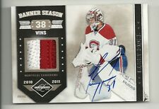 2011-12 Panini LIMITED Banner Season Patch Autograph  # 4 of 10  CAREY PRICE
