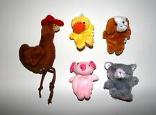 Little Red Hen finger puppets Nursery rhymes Fairy Story telling Plush Soft toy