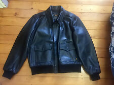 Alpha Industries Goat Skin Leather A2 Bomber Jacket