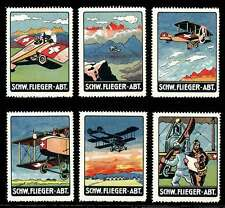 "Switzerland - ""Soldier Stamps"" - WWI Military Aviation - Set of 6 - Jakob Ramp"