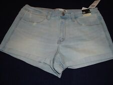 Women Abercrombie & Fitch Denim Cuffed Unfinished Hems Shorts  Size  10 NWT