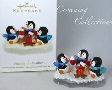 2011 Hallmark Friends of a Feather Keepsake Ornament Penguins at Play Smores NIB