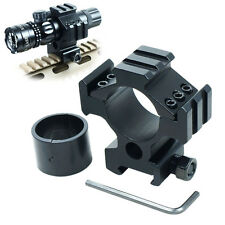 Heavy Duty Scope Ring Picatinny Weaver Rail Laser Torch Mount with 30mm Reducer