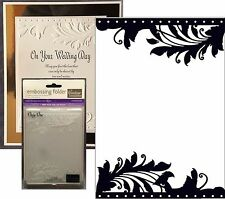 "Couture Creations Embossing folders ""ONLY ONE"" All Occasion CO723680 Retired"