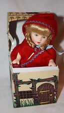 "ADORABLE KINGSTATE LITTLE RED RIDING HOOD W/ORIG BOX  7"" PORCELAIN DOLL"