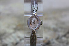 Vintage 1960 Benrus 14K Solid White Gold 17Jewels Mechanical Womens Watch