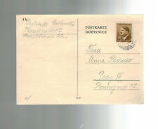 1943 Germany Theresienstadt Concentration Camp Postcard Cover Package Receipt KZ