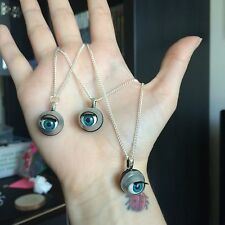 Doll Eye Necklace Creepy Open Close Dolly Eyes Jewellery Curio Weird Gothic