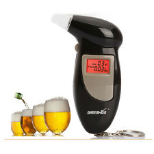Digital LCD Breath Alcohol Breathalyzer Analyser Tester Detector Keychain JS