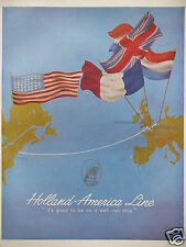 PUBLICITÉ 1952 HOLLAND - AMERICA LINE IT'S GOOD TO BE ON A WELL RUN SHIP