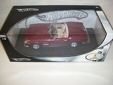 NIB HOT WHEELS FERRARI 250 GT CALIFORNIA SPIDER DIE-CAST CAR 1/18 SCALE, 2002