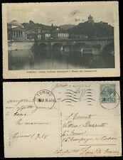 Torino Ponte Vittorio Emanuele e Monte dei Cappuccini Cartolina viaggiata 1918