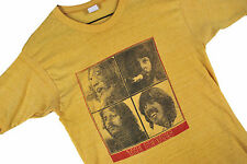 MENS XS VTG 70s THE BEATLES Concert Tour T Shirt Yellow Rock Roll 50/50 USA SOFT