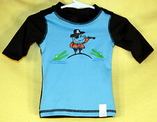 Children's Place Boy's PIRATES Swim Club Suit Rash Guard Shirt Size 18-24M NWT