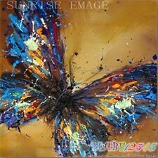 """O8P234B 20x20"""" Hand painted Oil Paintings Art  Decor Abstract butterfly NO Frame"""
