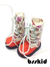 """SALE Blythe Pullip 1/6 12"""" Doll Floral ORANGE Shoes Boot"""