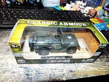 Wow Toyz Classic Armour 1/32 U.S. Willys Jeep Diecast Model MILITARY