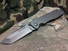 "Schrade Framelock Knife Tanto Checkered Stainless Folding Pocket 4 5/8"" 308"