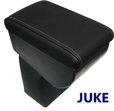 Armrest for NISSAN JUKE premium - BLACK + SILVER-GREY STITCHINGS - MADE IN ITALY