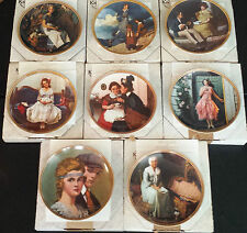 """LOT OF 8 NORMAN ROCKWELL'S """"REDISCOVERED WOMEN"""" PLATES, WITH COAs, KNOWLES"""