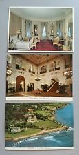 "VTG LOT OF 3 NEWPORT, RI ""THE BREAKERS"" POST CARDS GLOSSY PHOTOS"