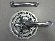 New Unbranded Alloy Bike Crankset w/ Chainring Triple 52/42/30T 175mm Silver