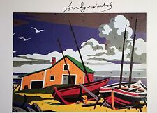 ANDY WARHOL HAND SIGNED SIGNATURE * DO IT YOURSELF (SEASCAPE) *  PRINT  W/ COA