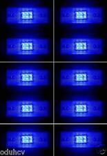 10x 24V 6 LED Seite Marker BLAU Blinker Lampen Lastwagen Anhänger Bus Wohnwagen