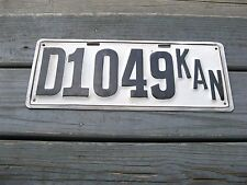1913 13 KANSAS KS DEALER LICENSE PLATE NICE TAG REPAIRED REPAINTED FIRST ISSUE