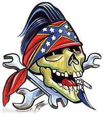 Wrench Skull Rebel Sticker Decal Low Brow Artist The Pizz P49