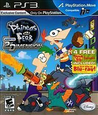 Phineas and Ferb: Across the 2nd Dimension (Sony PlayStation 3) NEW Sealed PS3