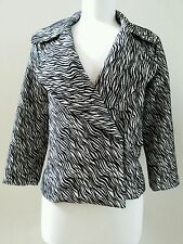 Tracy Reese Women's Black and White Winter Peacoat Jacket Size S Small