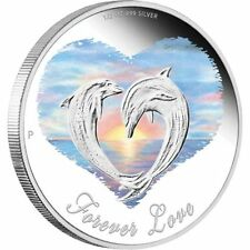 2013 Forever Love 1/2oz Silver Proof Coin - Dolphins -  Perth Mint