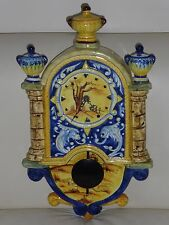"Italian Hand Painted Pendulum Clock 19"" by 10.5"" - Absolutely Stunning!!!"