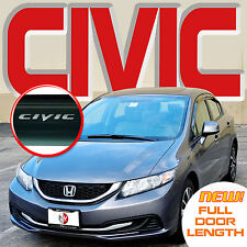 2012 2013 2014 2015 CIVIC WINDOW DOOR VISORS DEFLECTORS VENT SHADES with LOGO
