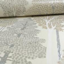ARTHOUSE ELLWOOD TREE PATTERN FOREST LEAVES MOTIF GLITTER WALLPAPER ROLL NEUTRAL