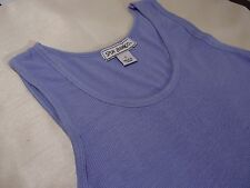 NEW Spun Bamboo Women's Ribbed Tank Top / Undershirt, Blue Violet Color, Size S