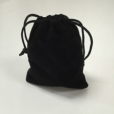 5 x VELVET GIFT POUCH /SMALL BLACK BAG/ JEWELLERY/COINS /CRAFTS /WEDDING FAVORS