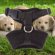 Pet Control Harness for Dog Puppy Soft Walk Collar Safety Strap Mesh Vest Black