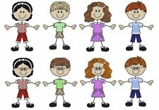 1074:  Machine Embroidery Designs - The Stick Family-Kids (Colored Version)