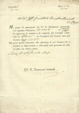 Nomina di Giambattista Goffi a Consigliere del Comune di Chiari 1849