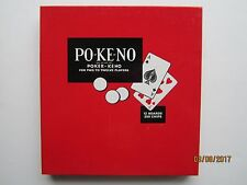 Vintage Pokeno Po-Ke-No Poker Keno card game Excellent Condition Complete 1970s