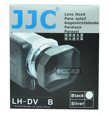 JJC 37mm Screw-in DV Camcorder Square Lens Hood with Cap and Strap LH-DV37B