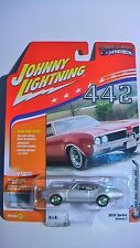 JOHNNY LIGHTNING 1/64 69 ODSMOBILE 442 SILVER MUSCLE CARS USA 2016 NEW 1836 MADE