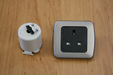 Campervan  Single 240v socket - CBE 3 pin socket, Motorhome 240v socket Silver