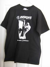 "T-SHIRT L INSIGHT TECH-GEAR ""DOMINATE THE DARKNESS"" MEN'S SHORT SLEEVE LARGE BLK"
