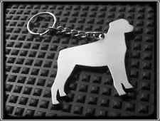 KEYRING DOG - ROTTWEILER - STAINLESS STEEL - HAND MADE - CHAIN LOOP KEY FOB