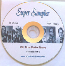Super Sampler Mp3 CD 89 Shows-Old Time Radio-Greatest Hits! ONLY $2.99 FREE S&H