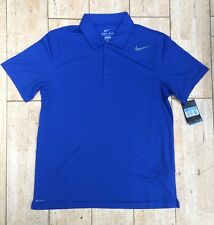 Nike Men's N.E.T. CLASSIC TENNIS POLO BLU NEW 453247-493 Taglia M